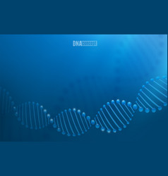 dna science technology background vector image