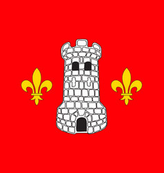 Flag of epinal in vosges of grand est is a french vector