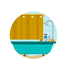 Flat icon for bathroom vector