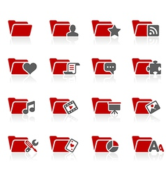 Folders Icons vector image vector image