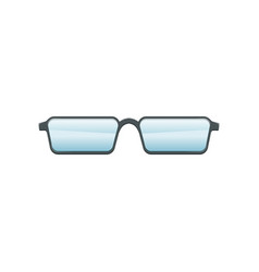 Glasses with blue lenses and gray metallic frame vector