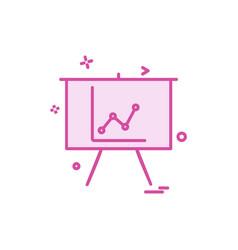 graph icon design vector image