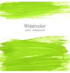 greenery watercolor texture background vector image