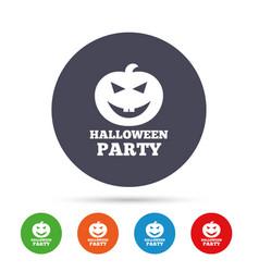 Halloween pumpkin sign icon halloween party vector
