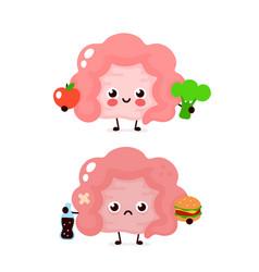 Happy cute smiling healthy with broccoli vector