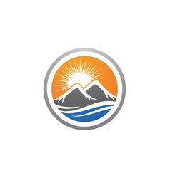 high mountain icon logo business template vector image