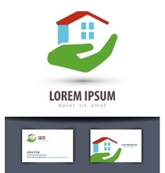 house logo design template building or vector image
