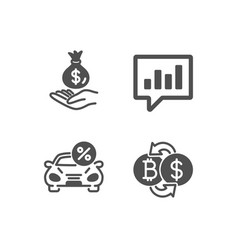 Income money car leasing and analytical chat vector