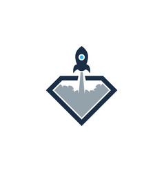 launch diamond logo icon design vector image