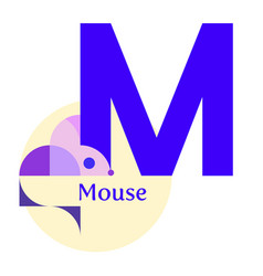 Letter m - mouse vector
