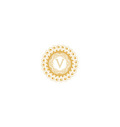 Letter v initial logo for wedding boutique luxury vector