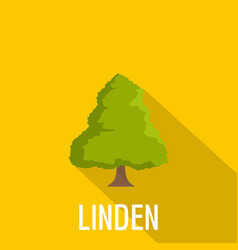 Linden tree icon flat style vector