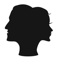 Man woman head combine vector