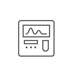 medical monitor line outline icon vector image