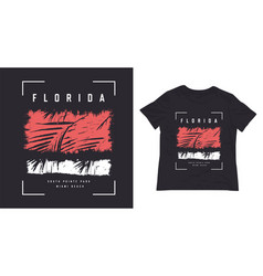 miami florida sport style t shirt design vector image