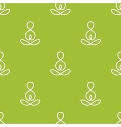 Minimalistic yoga sign seamless pattern vector
