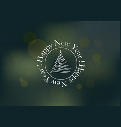 new years pattern flyer on a dark green vector image vector image