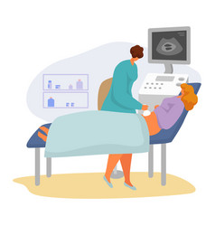 Patient on doctor appointment vector
