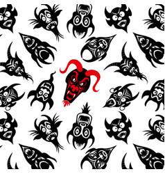 pattern collection of the dead devil mask vector image