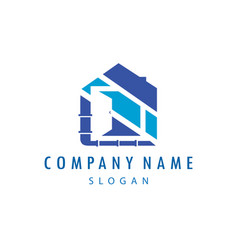 Plumber business logo vector