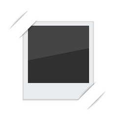 polaroid photo frame with mounts vector image