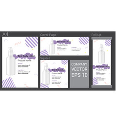 product description advertising template banner vector image