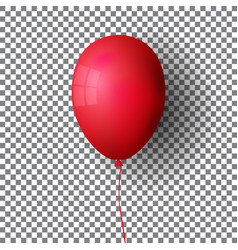 realistic helium balloon on transparent vector image