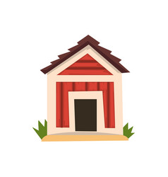 Red doghouse on a white vector