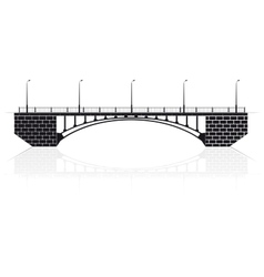 Reinforced concrete arch bridge in Kiev for cars vector