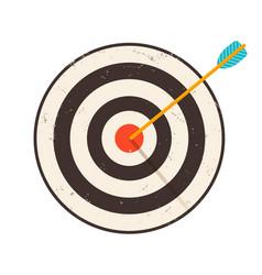 retro of vintage target vector image