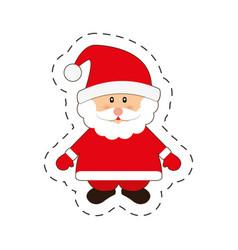 santa claus merry christmas cut line vector image