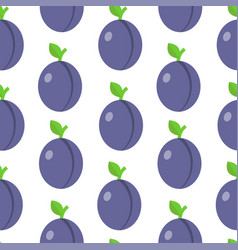 seamless pattern with plumes in flat style vector image