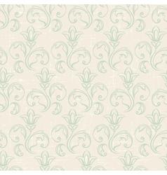 Seamless vintage wallpaper floral pattern retro vector