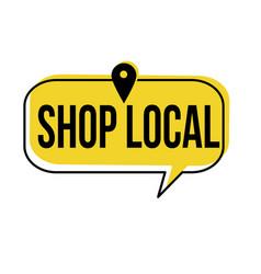 Shop local speech bubble vector