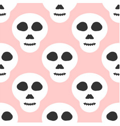Simple seamless pattern with skulls modern girly vector
