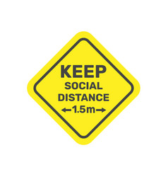 Social distancing icon 15 metres distance vector