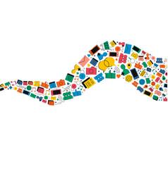 social media internet icon shape vector image