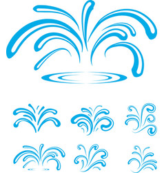 Splash of Sparkling Blue Water Drops vector image