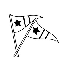 Sports celebratory flags icon image vector