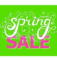 Spring Sale Background handwriting vector image