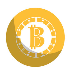 sticker digital bitcoin currency and electronic vector image
