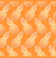 sweet pineapple diagonal seamless pattern vector image