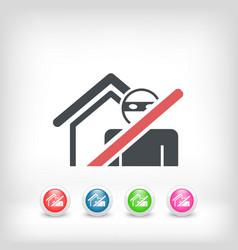 Thief security icon vector