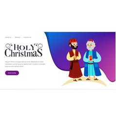 three magic kings of orient cartoon characters vector image