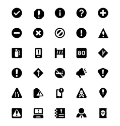 Warning Icons 2 vector image