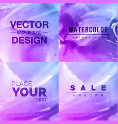 Watercolor background bright splash of colors vector