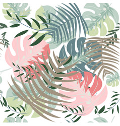 wild forest jungle seamless pattern vector image