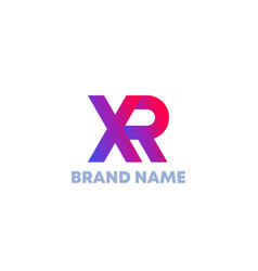 Xr letters logo design vector