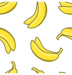 Yellow Banana seamless pattern vector image