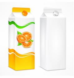 orange juice package vector image vector image